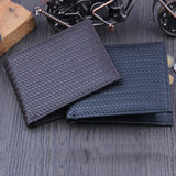 Men's Pu Leather Slim Bi-fold Wallet With Card Holder
