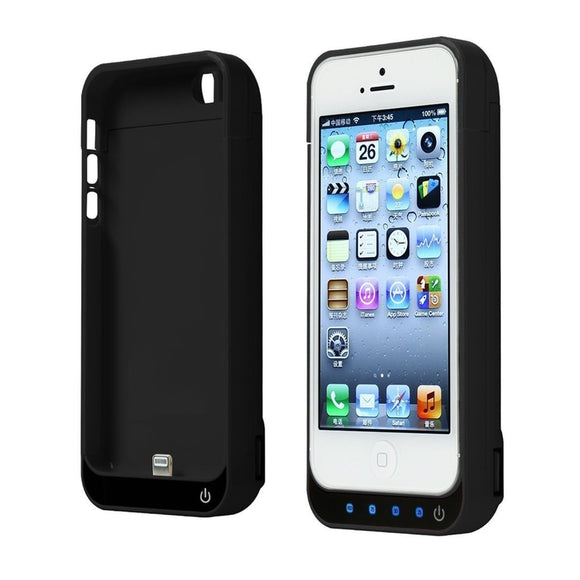 Battery Charger Case 4200mah  Rechargeable With Stand External Battery Pack Babk Backup Chargering Case For Iphone 5/5c/5s/SE