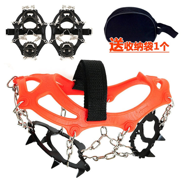 12 teeth claw manganese steel anti skid Ice Walkers  -with chain