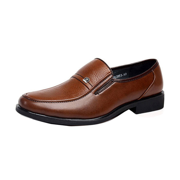 Mens Fashion soft leather business shoes casual Breathable high quality oxfords men's flats wholesale
