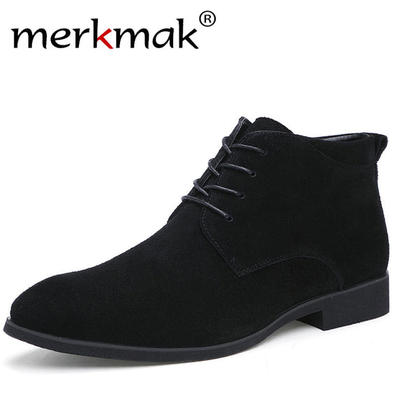Merkmak Brand, Men's Boots,  Genuine Leather Ankle Boots