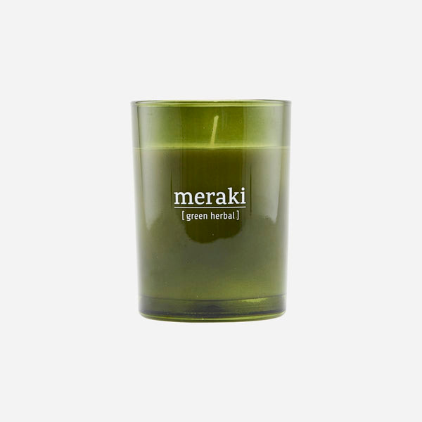 Duftkerze Green Herbal von Meraki