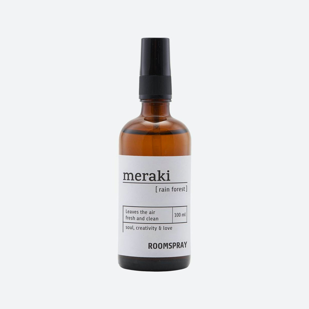 Meraki Raumspray Duftnote Rainforest, in der Glasflasche 100ml mit Sprayaufsatz