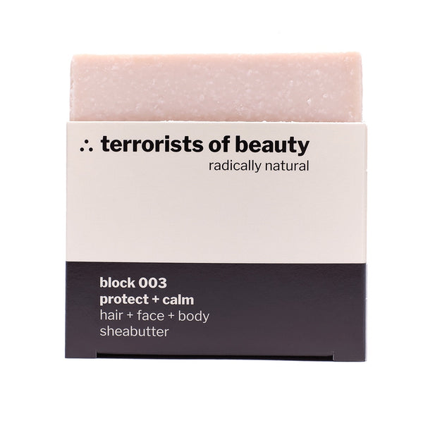 Blockseife block 003, Sheabutter, Naturkosmetik von terrorists of beauty, 100gr