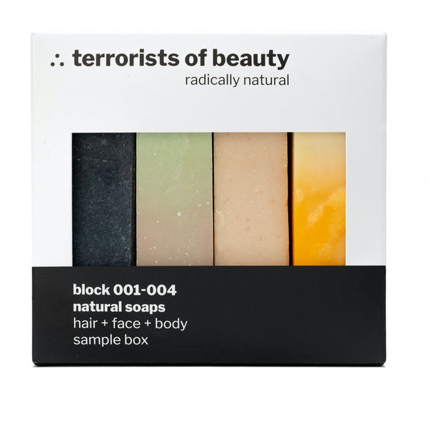 Sample Box von block 001-004, Naturkosmetik von terrorists of beauty, 4x50gr