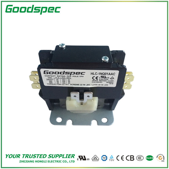 HLC-1NQ01AAC(1P/25A/24VAC) Definite Purpose Contactor