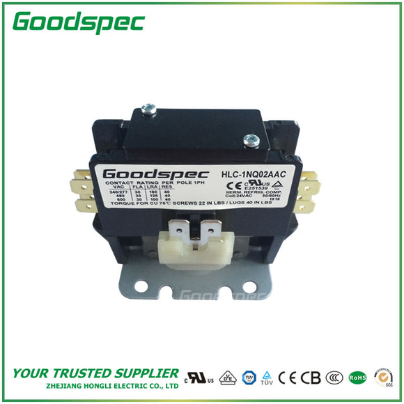 HLC-1NQ02AAC(1P/30A/24VAC) Definite Purpose Contactor