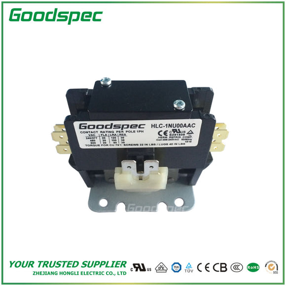 HLC-1NU00AAC(1P/20A/208-240VAC) Definite Purpose Contactor