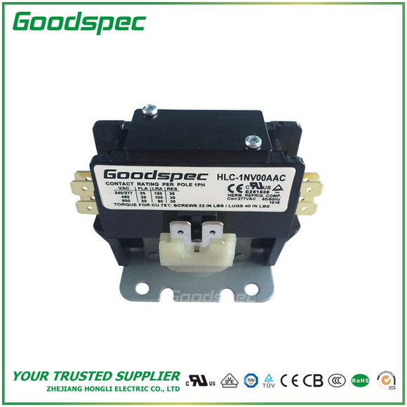 HLC-1NV00AAC(1P/20A/277VAC) Definite Purpose Contactor