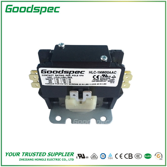 HLC-1NW00AAC(1P/20A/380-400VAC) Definite Purpose Contactor