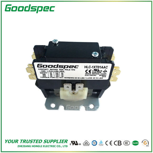HLC-1XT01AAC(1P/30A/120VAC) Definite Purpose Contactor