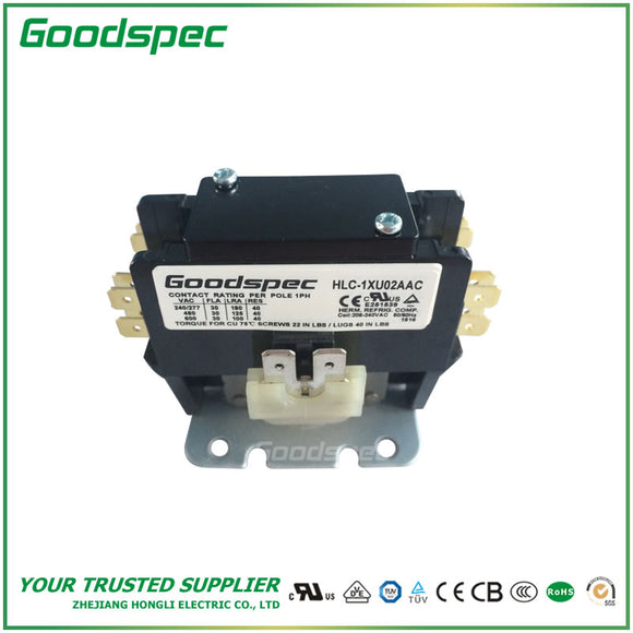 HLC-1XU02AAC(1P/30A/208-240VAC) Definite Purpose Contactor