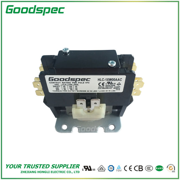 HLC-1XW00AAC(1P/20A/380-400VAC) DEFINITE PURPOSE CONTACTOR