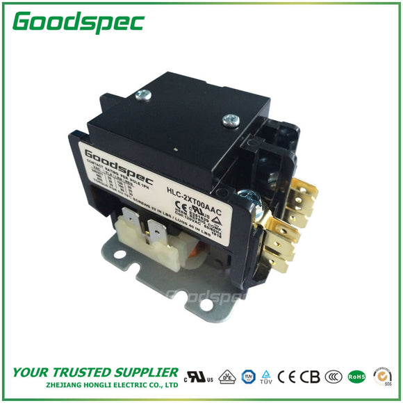 HLC-2XT00AAC(2P/20A/120VAC)Definite Purpose Contactor