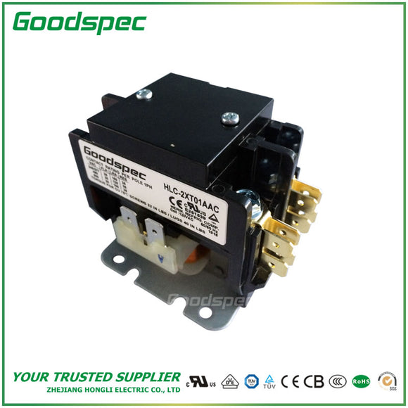HLC-2XT01AAC(2P/25A/120VAC) Definite Purpose Contactor