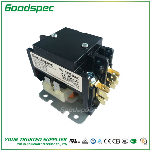 HLC-2XV01AAC(2P/25A/277VAC) Definite Purpose Contactor