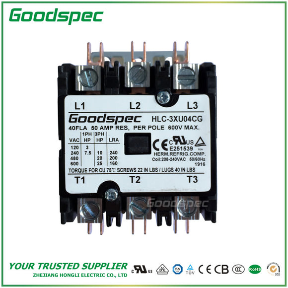 HLC-3XU04CG Definite Purpose Contactor