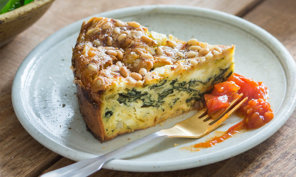 RECIPE: Self-crusting Spinach & Feta Quiche