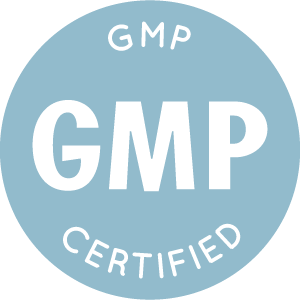 blue icon showing New Edition is GMP certified