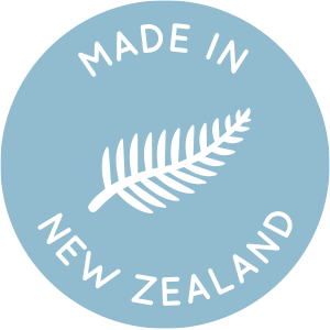 blue icon stating New Edition is Made in New Zealand as all products are 100% design and manufactured locally in new zealand