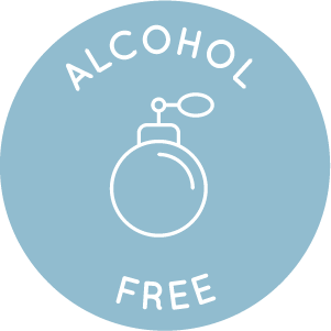 blue alcohol free icon as New Edition products do not contain alcohol