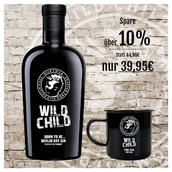 WILD CHILD DRY GIN + G&T TASSE