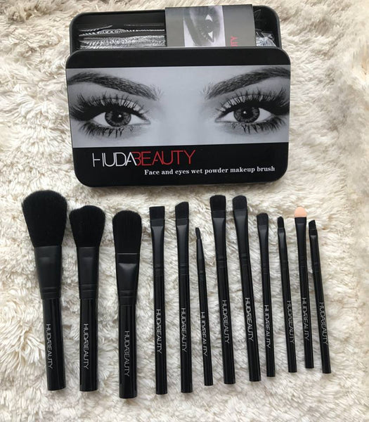 12 Pinceaux HUDABEAUTY