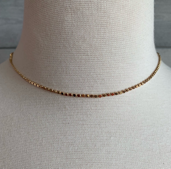 WEI // TINY DOT CHAIN NECK 0302335/GOLD
