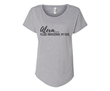 Alexa.. Please Homeschool My Kids Shirt - In Grey & White