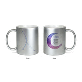 Moon Zodiac & Constellation Mug In White & Silver - All Signs Available