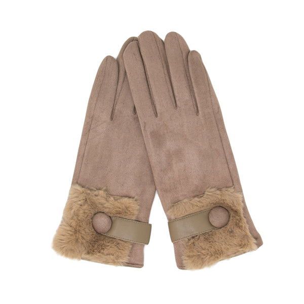 Soft Vegan Suede Touch Screen Gloves - In 5 Colors