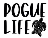 Pogue Life Turtle Tee - In Grey & White