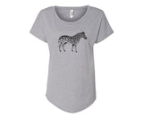 $8 donated To The Ehlers-Danlos Society - Zebra Ladies Tee