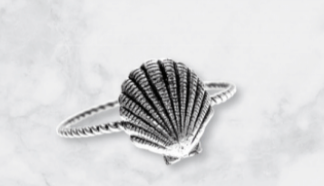 WEI // ROPE SAND DOLLAR RING .925 0617012