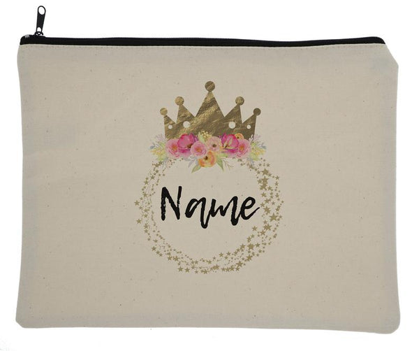 Canvas Custom Name Zipper Fairytale Princess Bag