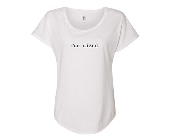 Fun Sized Ladies Tee Shirt - In Grey & White