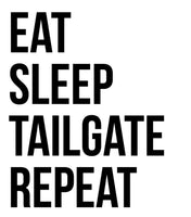 Eat SleepTailgate Repeat Ladies Tee - In Grey & White