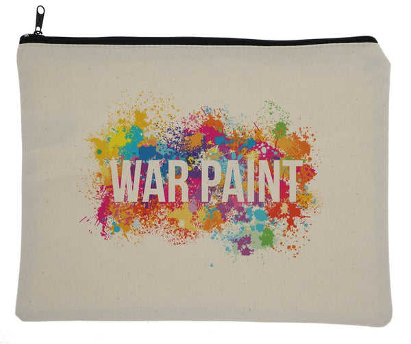 Color Splatter War Paint Canvas Zipper Bag
