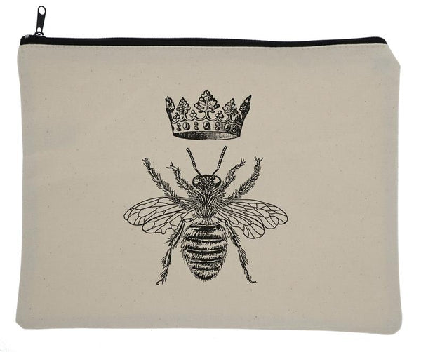 Queen Bee Canvas Zipper Bag