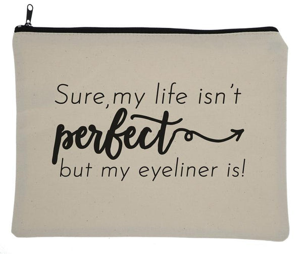 Perfect Life Eyeliner Canvas Zipper Bag
