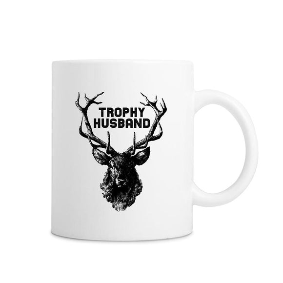 Trophy Husband White Buck Mug