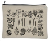 Plant Lady Zippered Make Up Travel Bag