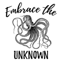 Embrace The Unknown Octopus Canvas Zipper Bag