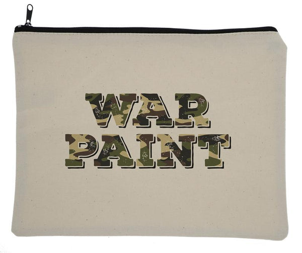 Camo War Paint Canvas Zipper Bag