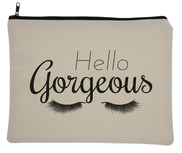 Hello Gorgeous Canvas Zipper Bag