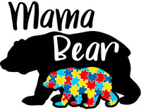 $8 Donated To FACES 4 Autism - Mama Bear Jigsaw Tee