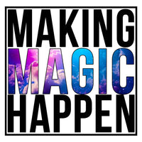 Making Magic Happen Ladies Tee Shirt - In Grey & White