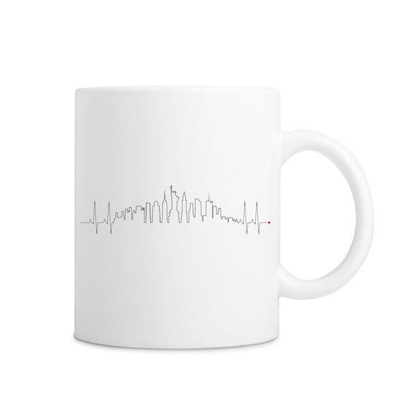New York Love Heartbeat Skyline Mug