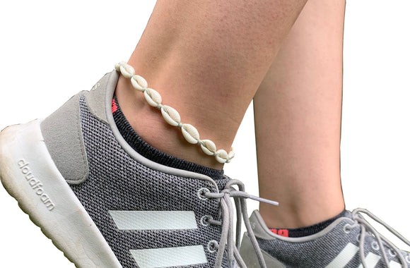 Mini Cowrie Shell Anklet - Shop Making Waves