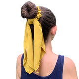Hair Tie Scrunchie With Bow Scarf - Shop Making Waves